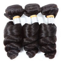 Unprocessed 8A Grade Fashion Loose Wave Brazilian Virgin Hair Weft For Women