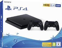 Sony PlayStation 4 - Konsole (500GB, schwarz, E-Chassis) inkl. 2. DualShock Controller (9351474)