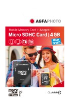 AgfaPhoto Mobile High Speed MicroSDHC 4 GB UHS-I U1 Class 10