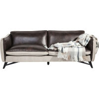 KARE Design Sofa 3-Sitzer Fashionista Leder/Canvas