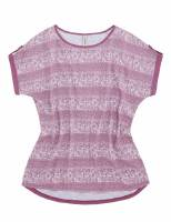 Materialmix T-Shirt, Paisleymuster