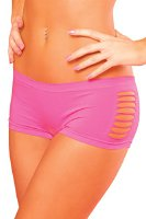 Pink Lipstick Women's Pure Performance Side Slash Hotshort, Pink, Small/Medium (26008)