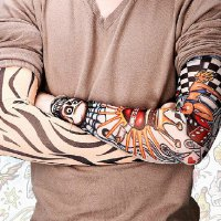 One Pieces Fashionable Various Tattoo Pattern Design Outdoor Oversleeve For Men