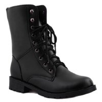 Simple Style Women's Ankle Boots With Black and Lace-Up Design
