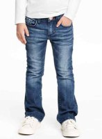 Stylish Bleach Wash Pocket Design Stretchy Jeans For Girl