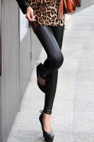 Fashionable Solid Color High-Waisted Slimming Leggings For Women