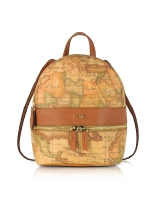 Alviero Martini 1A Classe Geo Classic Coated Canvas Backpack