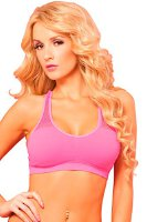 Pink Lipstick Women's Sport Mesh Performance Bra, Pink, Small/Medium (23016)