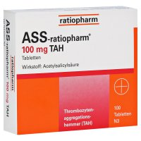 ratiopharm GmbH ASS-ratiopharm 100mg TAH Tabletten 100 Stück