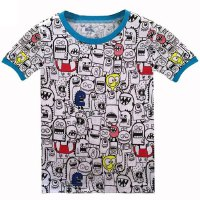 Casual Round Neck Little Kaiju Short Sleeve T-Shirt For Kids
