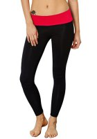 Active Style Slimming Color Block Stretchy Yoga Pants For Women