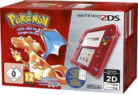 Nintendo 2DS - Konsole (Rot Transparent) inkl. Pokémon Rote Edition (2207832)