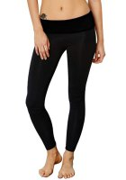 Active Style Slimming Black Stretchy Yoga Pants For Women