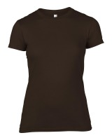 Anvil T-Shirt - Basic Fashion Tailliert - Chocolate-S