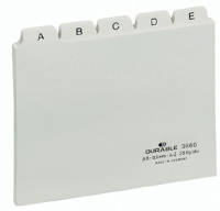 Durable 366002 Durable Leitregister A-Z, A6, 5/5-tlg. weiss