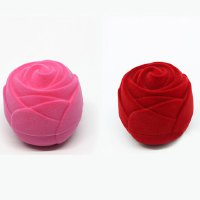 ONE PIECE Trendy Solid Color Rose Flower Jewelry Box For Women