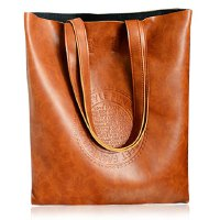 Retro Style Women's Shoulder Bag With Solid Color and Embossing Design