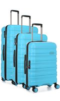 Antler Suitcase Juno 2, 4 Wheel Spinner, Set of 3, 80.5cm - 123L, Turquoise Koffer, 80 cm, 123 liters, Türkis (Turquoise) (4227130248)