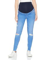 New Look Maternity Damen Umstandsjeans Overbump Busted Knee, Blau, 42/32 (5438160-46)