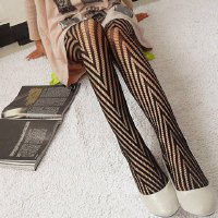 Chic Black Openwork Pattern Decorated Pantyhose For Women