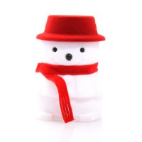 Cute Snowman Shape Jewelry Box For Women
