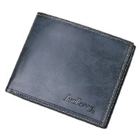 Simple Men's Wallet With Solid Color and Letter Print Design