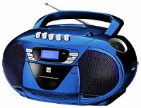 Dual P 68-1 Blau Portable Boombox (CD-Player (MP3), Kassettenabspieler, UKW/MW-Tuner, AUX-In) (Dual P 68-1 Blau)
