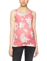 Mama Licious Damen Umstands Top MLHAWAI JERSEY TANK TOP A V 20007136, All over print, Gr. 38 (Herstellergröße: M), Mehrfarbig (Sunkist Coral AOP:SNOW White) (20007136-AOP:SNOW WHITE)