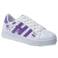 Trendy Women's Athletic Shoes With Stripes and Colour Block Design