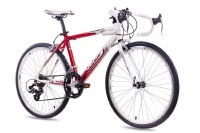 KCP 24 Zoll Rennrad Jugendrad KCP RUNNY 14G weiss rot 2017
