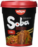 Nissin Soba Cup Chili, 4er Pack (4 x 92g Becher) (13065)