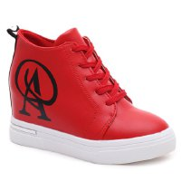 Trendy Women's Athletic Shoes With Letter and PU Leather Design
