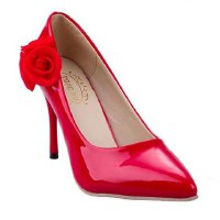 Sexy Women's Pumps With Stiletto Heel and Flower Design