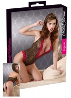 Cottelli Collection Body»Sascha« - Transparent und ouvert - Leo-Look/Rot (26409538021)