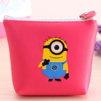 Cute Women's Coin Purse With Minions Pattern and PU Leather Design