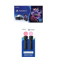 Sony PlayStation VR + Camera + VR Worlds Voucher [neue PSVR Version] + PlayStation Move Motion-Controller - Twin Pack (2018)