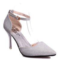 Elegant Women's Pumps With Sequined and Two-Piece Design