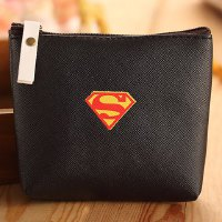 Stylish Men's Coin Purse With Super Hero and PU Leather Design