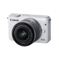 Canon EOS M10 mit EF-M 15-45mm 3,5-6,3 IS STM weiss