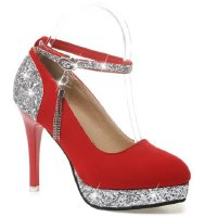 Party Women's Pumps With Sequined and Tassel Design