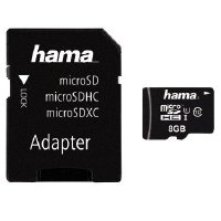 Hama 00123971 microSDHC 8GB Class 10 UHS-I 45MB/s + Adapter/Action-Cam