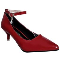 Stylish Women's Pumps With Ankle Strap and Pointed Toe Design