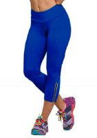 Stylish Zippered Solid Color Leggings For Women