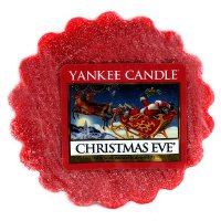 Yankee Candle 1199617 Dufttarts - Christmas Eve 22g Wachs 6.4x6.2x8.6 cm, rot (1199617E)