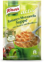 Knorr active Tomaten Mozarella Suppe, 8er Pack (8 x 200 ml) (1453)
