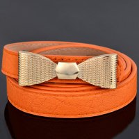 Stylish Bow Embellished Slender Belt For Women