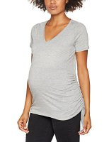 New Look Maternity Damen Umstands-T-Shirt Rouch Side Jersey, Grey (Mid Grey), 34 (5329056-04)