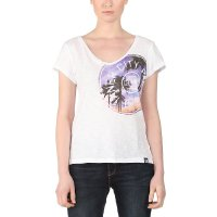 Bench Damen T-Shirt Inner City Palms Large Bright White (BLGF0065_WH001_WH001_L)