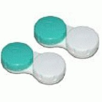 Lens Container white/green - 2 pieces
