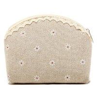 Sweet Women's Clutch Wallet With Floral Print and Lace Design